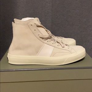 Tom Ford unlined cambridge high top white size 9